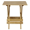 Quick Folding Small Table Made Of Solid Wood-Natural