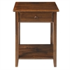Night Owl Night Stand with USB Port-Warm Brown