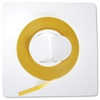 "1/8"" W Yellow Vinyl Chart Tape"