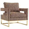 Avery Gold Textured Velvet Chair