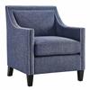 Asheville Blue Linen Chair