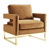 Avery Cognac Velvet Chair