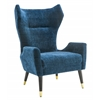 Logan Navy Velvet Chair