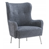 Ethan Grey Velvet Chair
