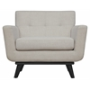 James Beige Linen Chair