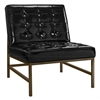 Jed Black Patent Leather Chair