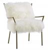Lena White Sheepskin Chair
