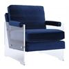 Serena Navy Velvet/Lucite Chair