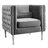 Bryn Grey Velvet Chair