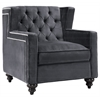 Sydney Grey Velvet Chair