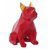Mans Best Friend Sculpture - Red and Gold
