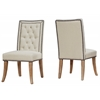 Garrett Beige Linen Dining Chair Set of 2