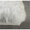 Luxe White Sheepskin Lucite Bench