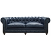 Durango Rustic Blue Leather Sofa