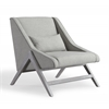 Sabrina Grey Linen Chair