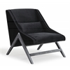 Sabrina Black Velvet Chair