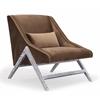 Sabrina Pecan Velvet Chair