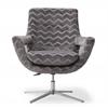 Fifi Grey Swivel Chair
