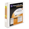 "Touchguard Antimicrobial View Binder w/Slant Rings, 1 1/2"" Cap, White"