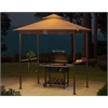 Wicker Grill gazebo with LED lights
