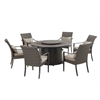 Dining Set with LP Fire Table 7pc