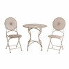 Soda Antique-White Steel Bistro Set
