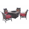 Cald LP Firepit 5pc Chat Set