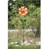Orange Flower Garden Stake LED Solar