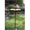 Glass Garden Stake Bird Feeder