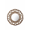 Fir Wood Wide Border Round Mirror