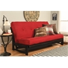 Aspen Frame-Reclaim Mocha  Finish-Suede Red Mattress