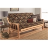Lodge Frame-Natural Finish-Fairbanks Evergreen Mattress