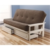 Monterey Frame/Antique White Finish/Marmont Mocha Mattress/Storage Drawers