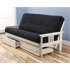 Monterey Frame/Antique White Finish/Suede Black Mattress/Storage Drawers