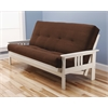 Monterey Frame/Antique White Finish/Suede Chocolate Mattress