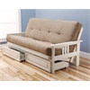 Monterey Frame/Antique White Finish/Suede Peat Mattress/Storage Drawers