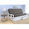 Monterey Frame/Antique White Finish/Tantra Espresso Mattress/Storage Drawers
