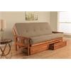 Monterey Frame/Barbados Finsish/Linen Stone Mattress/Storage Drawers