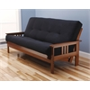 Monterey Frame/Barbados Finsish/Suede Black Mattress
