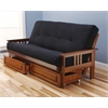 Monterey Frame/Barbados Finsish/Suede Black Mattress/Storage Drawers