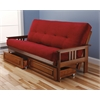Monterey Frame/Barbados Finsish/Suede Red Mattress/Storage Drawers