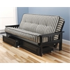 Monterey Frame/Black Finish/Cozumel Navy Mattress/Storage Drawers