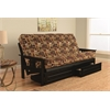 Monterey Frame/Black Finish/Fairbanks Evergreen Mattress/Storage Drawers