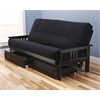 Monterey Frame/Black Finish/Suede Black Mattress/Storage Drawers