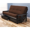 Monterey Frame/Black Finish/Suede Chocolate Mattress/Storage Drawers