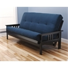 Monterey Frame/Black Finish/Suede Navy Mattress