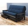 Monterey Frame/Black Finish/Suede Navy Mattress/Storage Drawers