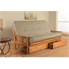Monterey Frame/Butternut Finish/Cozumel Navy Mattress/Storage Drawers