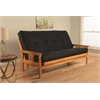 Monterey Frame/Butternut Finish/Suede Black Mattress