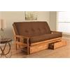 Monterey Frame/Butternut Finish/Suede Chocolate Mattress/Storage Drawers